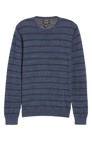 Nordstrom Men's Shop Regular Fit Stripe Cotton & Cashmere Sweater