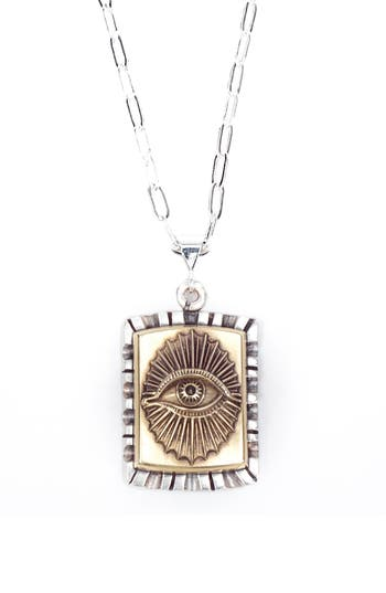 Lewis Henry Nicholas All Seeing Eye Pendant Necklace