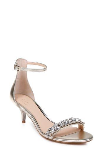 Jewel Badgley Mischka Dash Embellished Halo Strap Sandal
