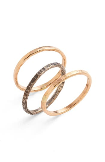 Women's Nashelle Ija Stackable Hammered Rings (Set Of 3)