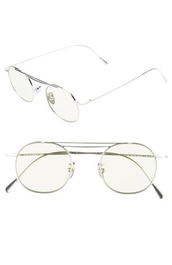 Cutler and Gross 47mm Polarized Round Sunglasses