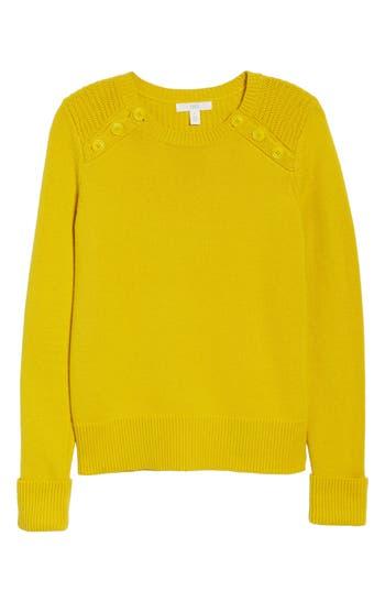 1901 Button Detail Cotton Wool Blend Sweater