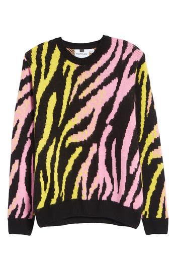 Topman Tiger Stripe Classic Fit Sweater
