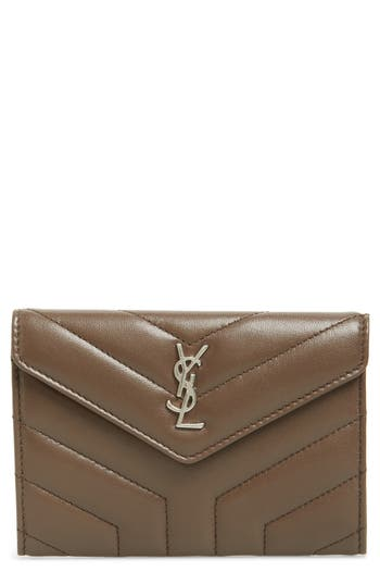 Saint Laurent Small Loulou Matelassé Leather Wallet