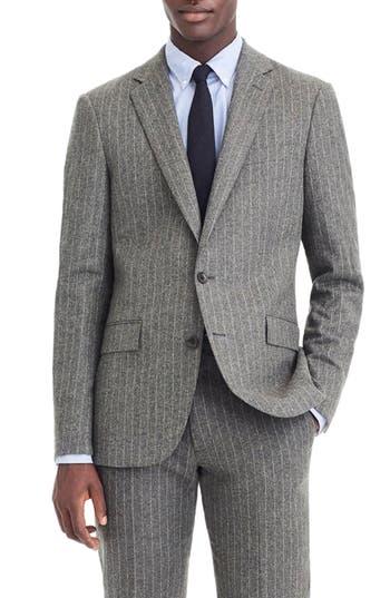 J.Crew Ludlow Slim Fit Chalk Stripe Wool Blend Suit Jacket
