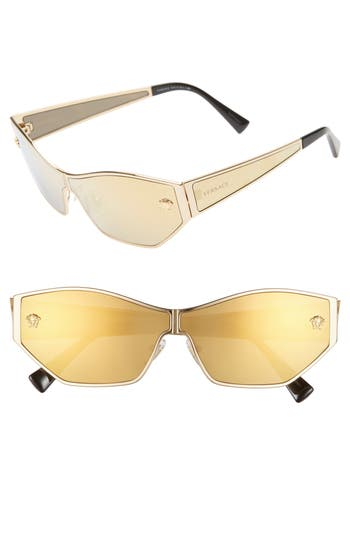 Versace 66mm Shield Sunglasses