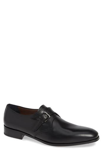 Salvatore Ferragamo Alessandro Single Buckle Monk Shoe