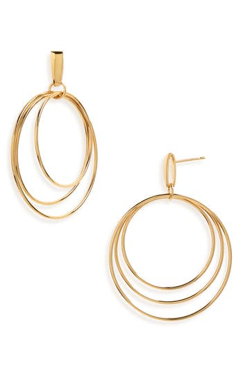 Natasha Schweitzer Mini Christy Vermeil Hoop Earrings