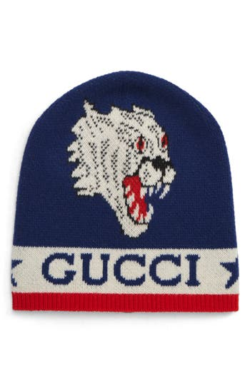 Gucci Tiger Snake Wool Beanie
