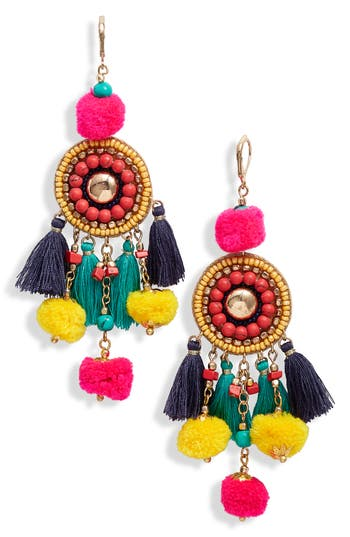 Panacea Tassel & Pompom Earrings