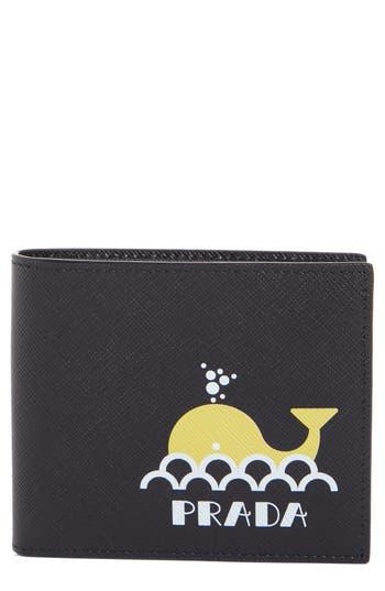 Prada Whale Saffiano Leather Wallet