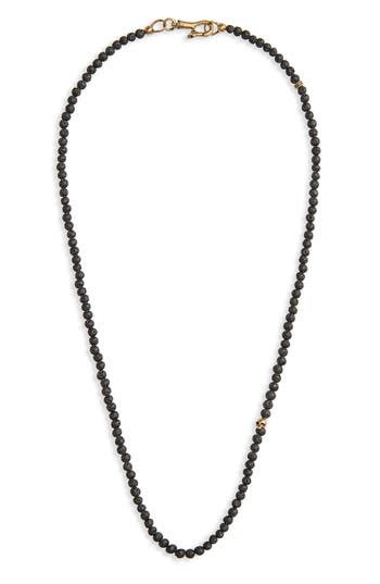 John Varvatos Star USA Skull Bead Necklace