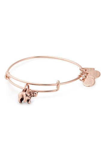 Alex and Ani Charity by Design Elephant Expandable Wire Bangle