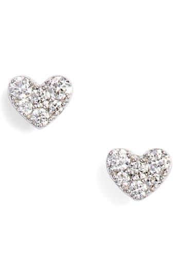 Bony Levy Diamond Pavé Heart Stud Earrings