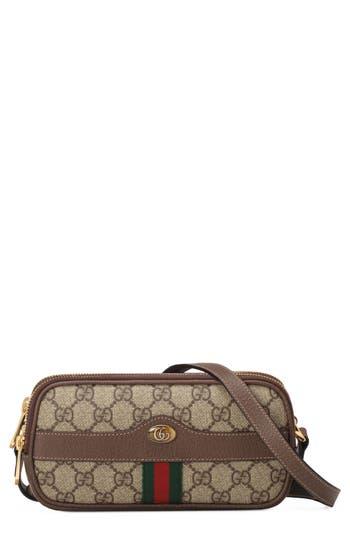 Gucci Mini Ophidia GG Supreme Canvas Crossbody Bag