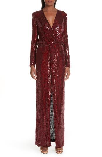 Galvan Surplice Neck Sequin Gown