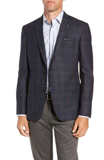 Ted Baker London Jay 2B Trim Fit Plaid Wool Sport Coat