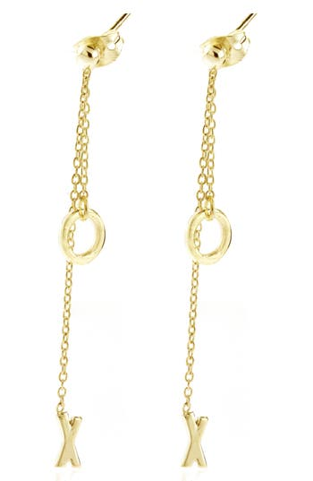 ADORNIA XO Drop Back Earrings