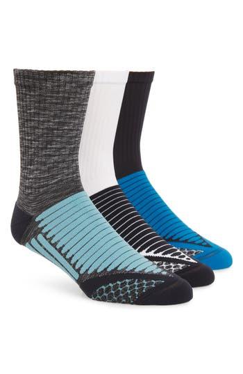 Zella 3-Pack Crew Socks