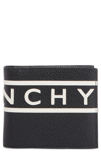 Givenchy Logo Calfskin Leather Wallet
