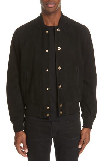 Versace Suede Bomber Jacket