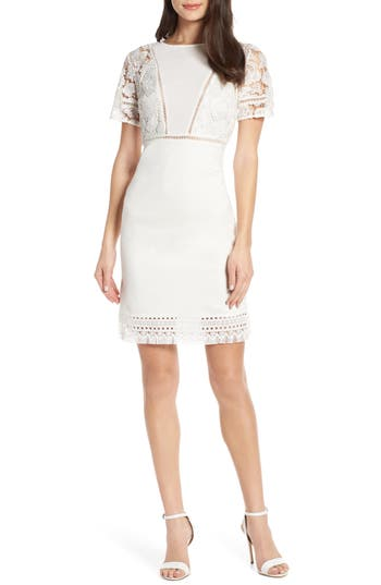 French Connection Viola Lula Jersey & Lace Dress