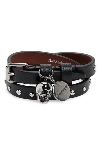 Alexander McQueen Double Wrap Stud Bracelet