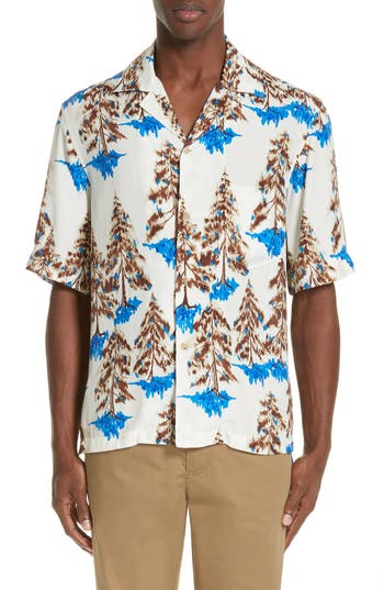 Acne Studios Simon Floral Print Shirt