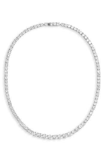 Nordstrom Graduated Cubic Zirconia Collar Necklace