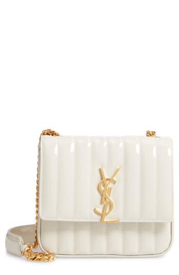 Saint Laurent Medium Vicky Patent Leather Crossbody Bag