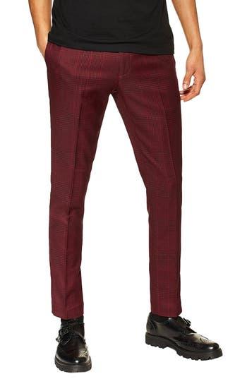 Topman Kemp Check Skinny Trousers