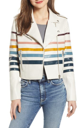 BLANKNYC Multistripe Faux Leather Jacket