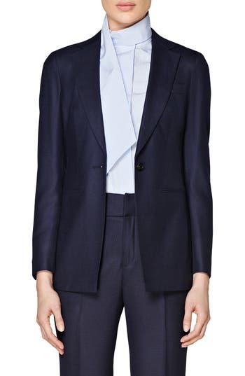 SUISTUDIO Cameron Square Hem Italian Wool Jacket