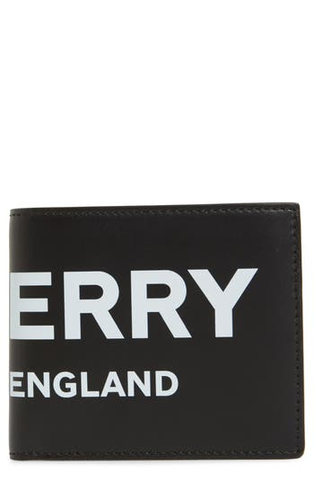 Burberry Logo Leather Wallet