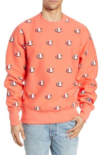 Champion Scribble Logo Print Sweatshirt