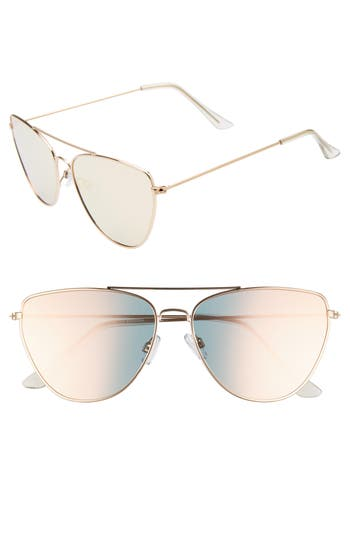 Leith 60mm Cat Eye Aviator Sunglasses