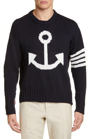 Thom Browne Anchor Cotton Sweater