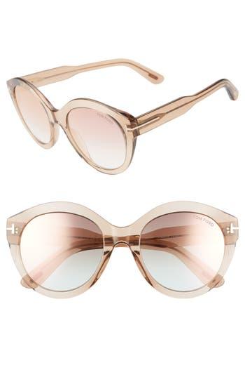Tom Ford Rosanna 54mm Round Cat Eye Sunglasses