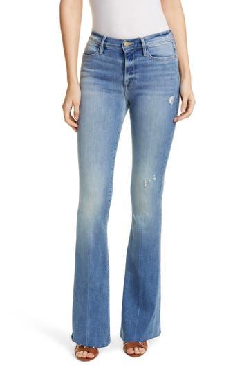 FRAME Le High Raw Hem Flare Jeans (Stride)