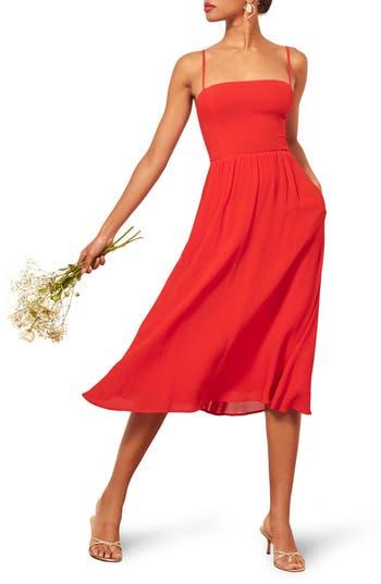 Reformation Rosehip Fit & Flare Dress