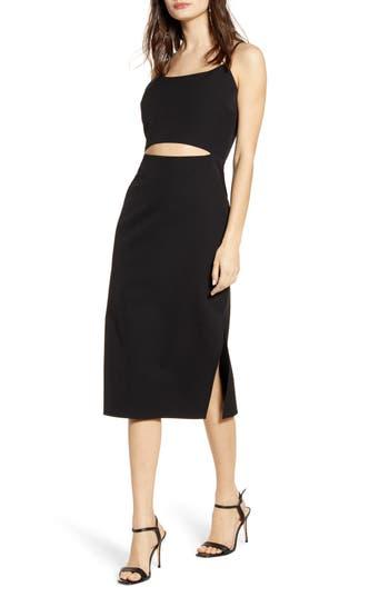 WAYF Lacy Cutout Midi Dress