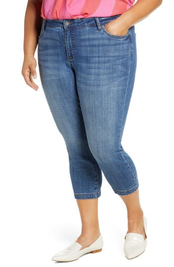KUT from the Kloth Lauren Crop Skinny Jeans (Started) (Plus Size)