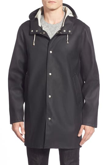Men's Stutterheim Stockholm Waterproof Hooded Raincoat