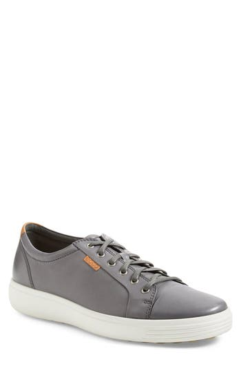 Ecco Soft Vii Lace-Up Sneaker - Grey