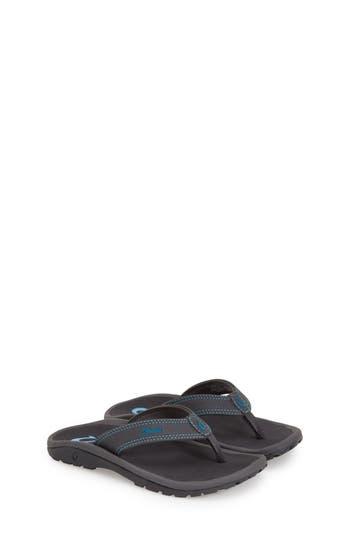 Boys Olukai Ohana Sandal Size 45 M  Grey