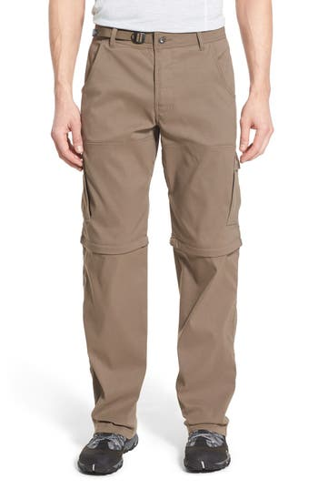 Prana Zion Stretch Convertible Cargo Hiking Pants, Brown