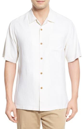 Men's Big & Tall Tommy Bahama 'Rio Fronds' Short Sleeve Silk Sport Shirt