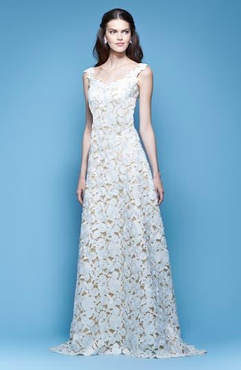 Carolina Herrera Guipure Lace A-Line Gown