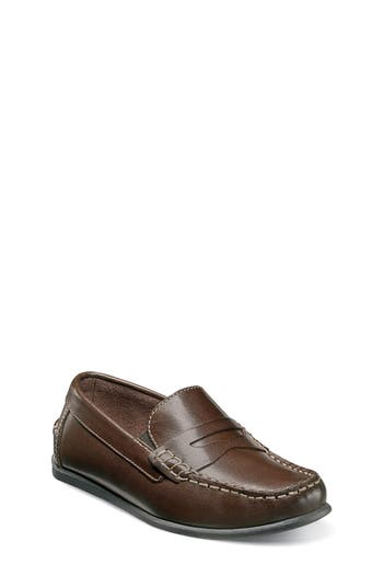 Boys Florsheim Jasper  Driver Jr. Loafer Size 5.5 M  Brown