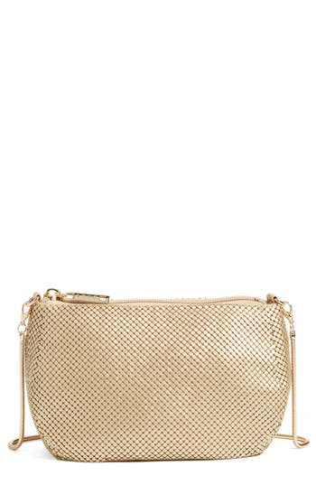 Whiting & Davis 'Matte' Mesh Crossbody Bag - Metallic